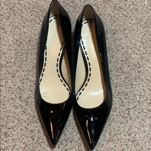 Enzo Angiolini Black Patent Pointed Flats